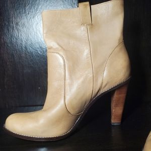 Cole Haan Nike Air Leather Wooden Heels Boots